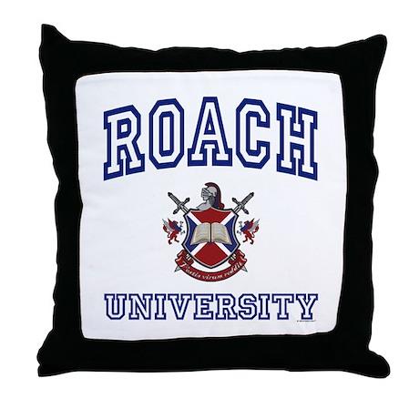 ROACH University Throw Pillow