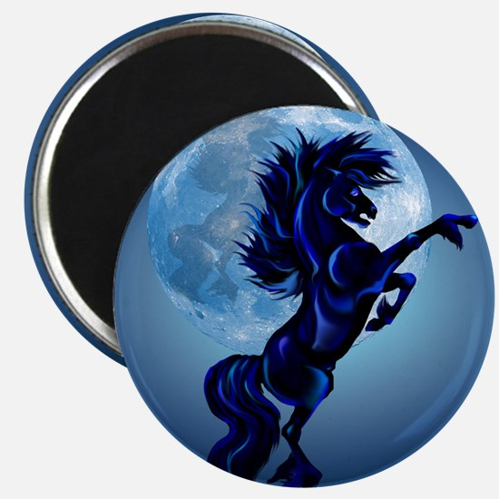 Rearing Stallion and Blue Moon_pillow Magnet