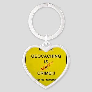 cache crime Heart Keychain