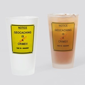 cache crime Drinking Glass