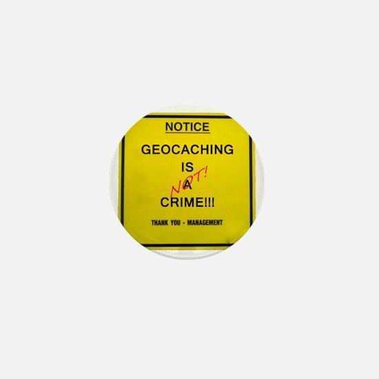 cache crime Mini Button