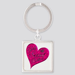 Girls Scoot Better 1 Square Keychain