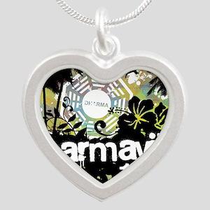 2-dharmaville Silver Heart Necklace