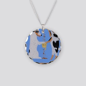 Mixed Nuts Necklace Circle Charm