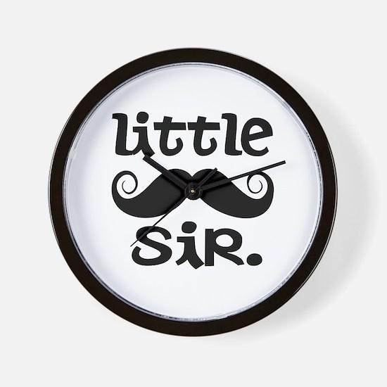 Little Sir Mustache Wall Clock