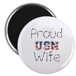 Barbed Wire Proud USN Wife Magnet