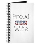 Barbed Wire Proud USN Wife Journal