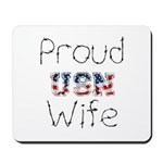 Barbed Wire Proud USN Wife Mousepad