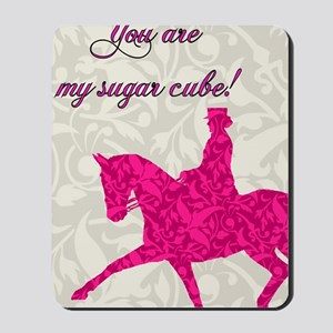 Valentines Day Card outside pink Mousepad