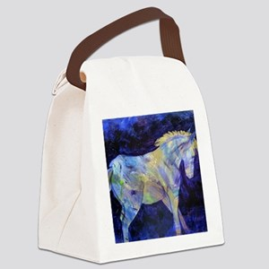 Golden Paint Canvas Lunch Bag