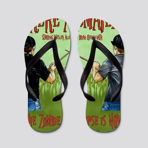 Undead Invasion w:names Flip Flops