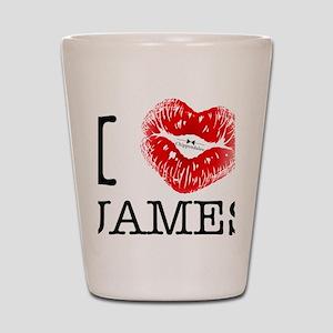 i_heart_james Shot Glass