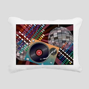 Turntable Rectangular Canvas Pillow
