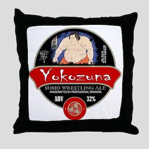 Yokozuna Sumo Beer Throw Pillow