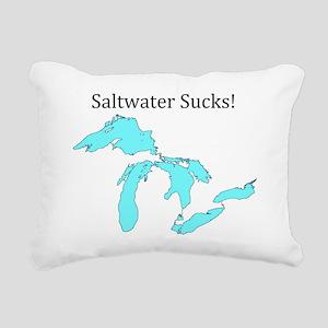 Saltwater Sucks2 Rectangular Canvas Pillow