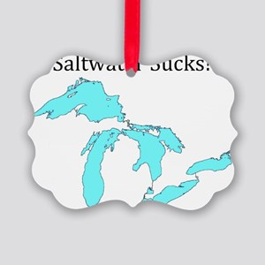 Saltwater Sucks2 Picture Ornament