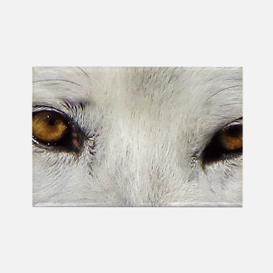 WOLF WHITE Rectangle Magnet
