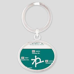 10x10 ConfusionCorner Oval Keychain