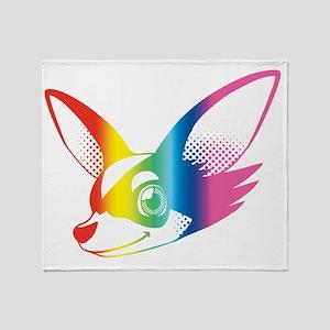 Chihuahua Rainbow Throw Blanket