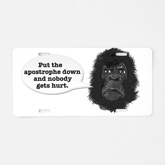 gorilla-mask-art Aluminum License Plate