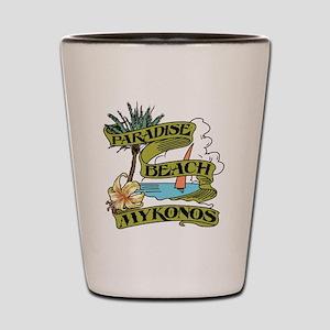mykonos_paradise_beach_tee Shot Glass
