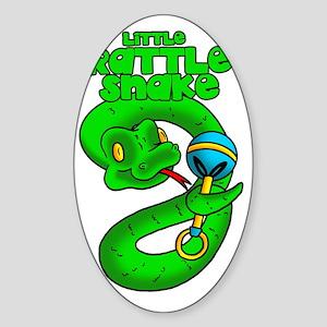 Rattle Snake Sticker (Oval)