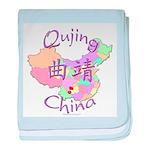 Qujing China Map baby blanket