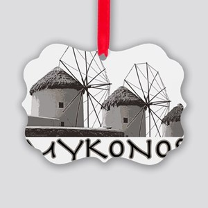 mykonos_t_shirt_windmills Picture Ornament