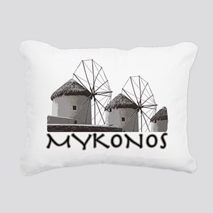 mykonos_t_shirt_windmill Rectangular Canvas Pillow