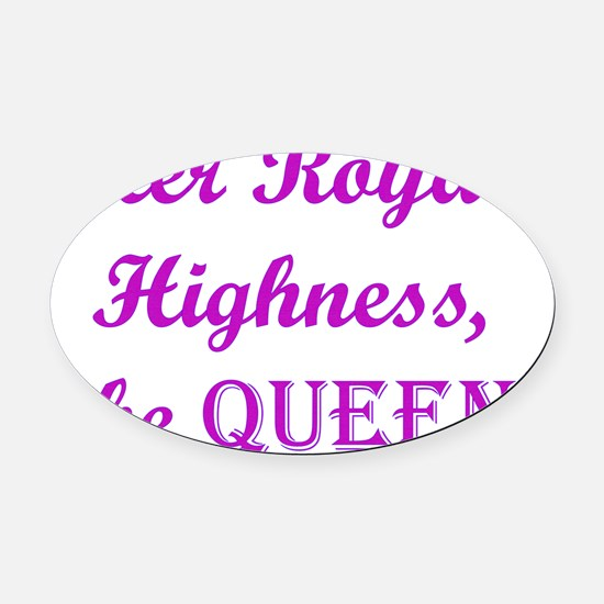 The Queen (dark) Oval Car Magnet