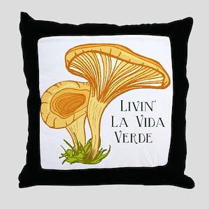 La Vida Verde Throw Pillow