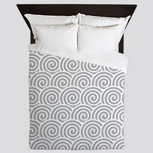Grey Swirls Queen Duvet