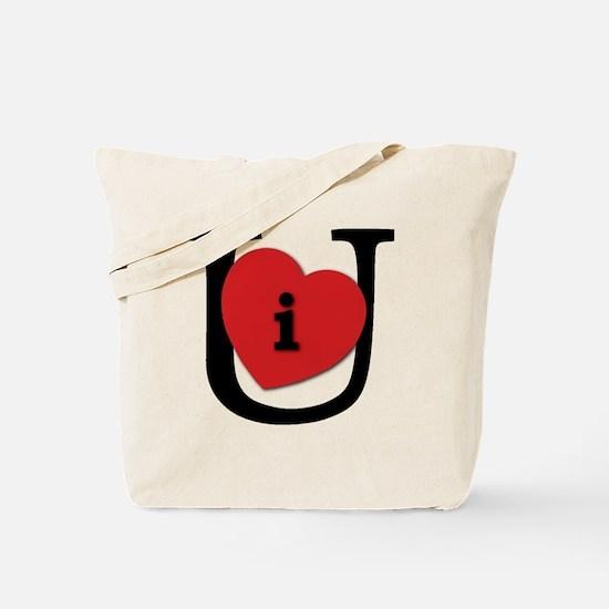 I Heart U Black Tote Bag