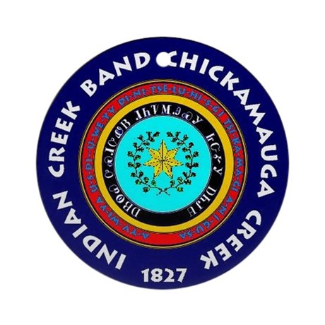 2-Seal of the Indian Creek Band2 Round Ornament