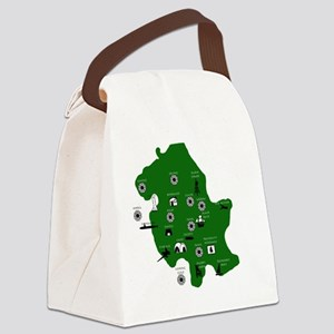 mapsimple Canvas Lunch Bag