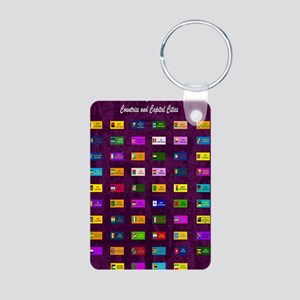 2-African capitals_mini po Aluminum Photo Keychain