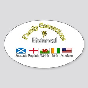 Family Connections Oval Sticker
