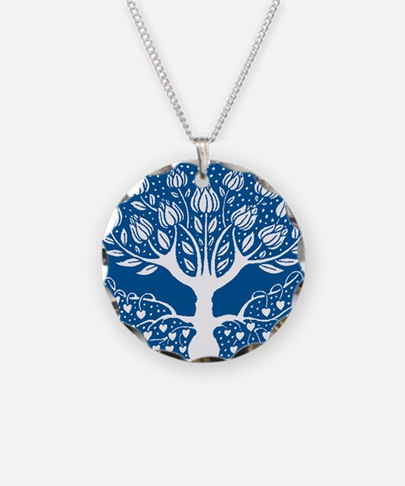 Smoking Tree Blue Necklace
