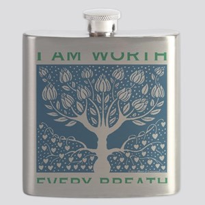 Smoking Tree Blue Flask