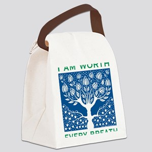 Smoking Tree Blue Canvas Lunch Bag