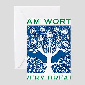 Smoking Tree Blue Greeting Card