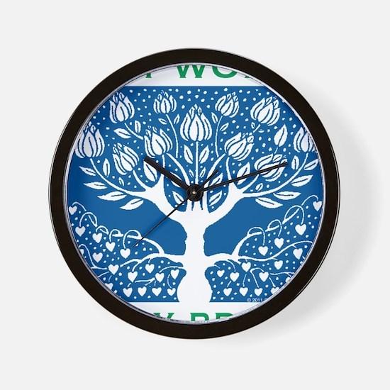 Smoking Tree Blue Wall Clock