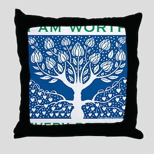Smoking Tree Blue Throw Pillow