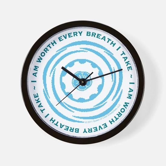 Worth Breath Teal Wall Clock