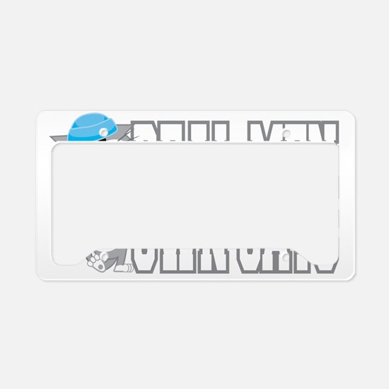 Real-Men-Own-Cats-blk License Plate Holder