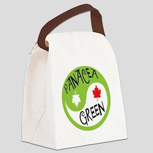 panacea_green_logo_tshirt Canvas Lunch Bag