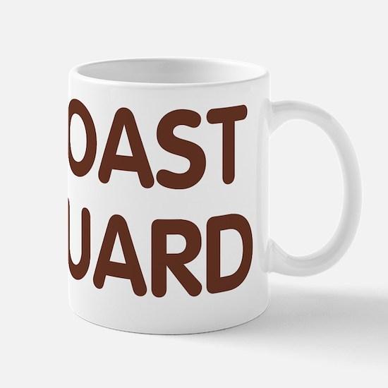 USCG-Text-Brown Mug