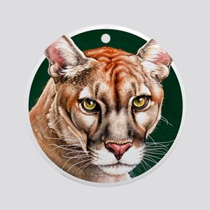Panther Portrait Round Round Ornament