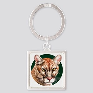 Panther Portrait Round Square Keychain