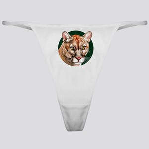 Panther Portrait Round Classic Thong